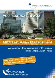 MBA East Asian Management - International Graduate Center