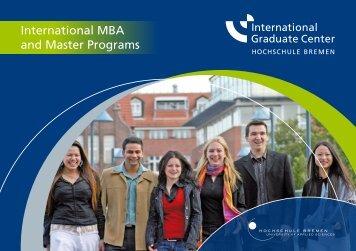 International MBA and Master Programs - International Graduate ...