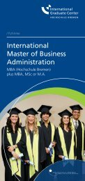 International Master of Business Administration