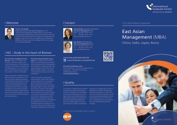 East Asian Management (MBA) - International Graduate Center