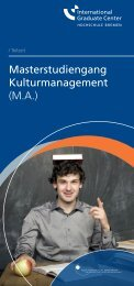 Masterstudiengang Kulturmanagement (M.A.) - International ...