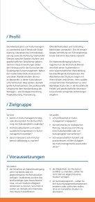 Masterstudiengang Kulturmanagement (M.A.) - International ... - Seite 3