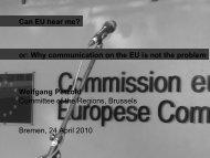 Lecture Wolfgang Petzold, Can EU hear me - International Graduate ...