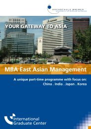 MBA East Asian Management - International Graduate Center
