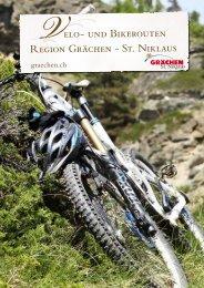 Broschüre Bikerouten - Region Grächen St. Niklaus