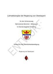 Lärmaktionsplan Gräfelfing - Entwurf für die Öffentlichkeitsbeteiligung