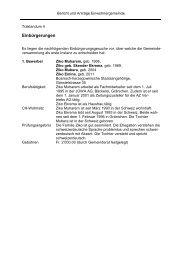 Einbürgerungen - Gemeinde Gränichen