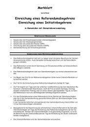 Referendumsbegehren Merkblatt - Gemeinde Gränichen