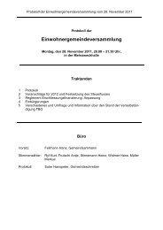 Protokoll vom 25. November 1996 - Gemeinde Gränichen