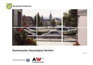Schlussbericht Kommunaler Gesamtplan Verkehr - Gemeinde ...