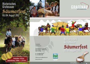 Säumerfest Säumerfest - Stadt Grafenau