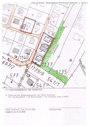 Bebauungsplan Haus i. Wald Brunnwiesen ... - Stadt Grafenau