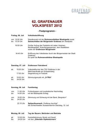 62. GRAFENAUER VOLKSFEST 2012 - Stadt Grafenau