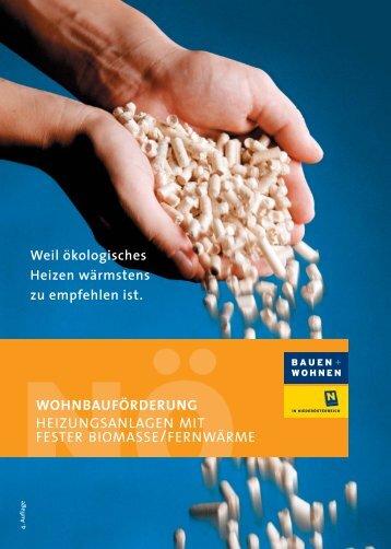 Wohnbauförderung Heizanlagen (515 KB) - .PDF - Grafenschlag
