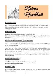 Kleines Pfarrblatt 2008-12 - Grafenschlag