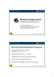 Ökomanagement Programm - Grafenschlag