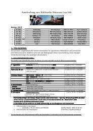 Ausschreibung zum Waldviertler Motocross Cup 2010 - Grafenschlag