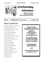 Gemeindezeitung Nr. 82 Dezember 2007 - Grafenschlag
