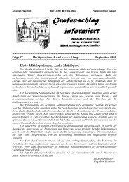 Gemeindezeitung Nr. 77 Sept 2006 - Marktgemeinde Grafenschlag
