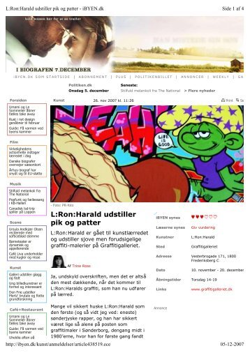 L:Ron:Harald udstiller pik og patter - Graffitigalleriet