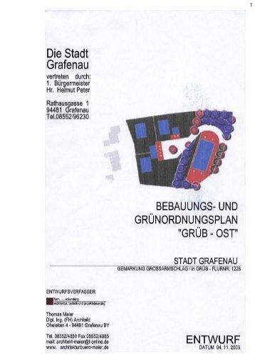 Bebauungsplan Grüb Ost - Stadt Grafenau