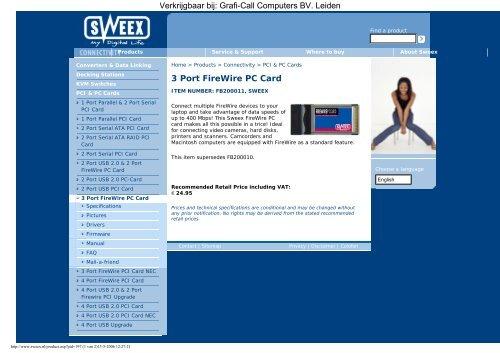 SWEEX WIRELESS LAN PCI CARD 54MBPS DRIVER
