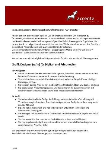 Grafik Designer (w/m) für Digital- und Printmedien - Grafiker.de