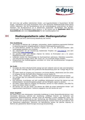 Stellenausschreibung Azubi Mediengestalter 2013 1 - Grafiker.de