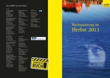 Vorschau Herbst 2013 - Grafit Verlag
