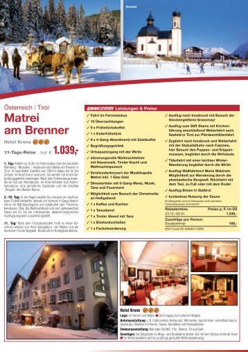 Weihnachten & Silvester - Anton Graf GmbH Reisen & Spedition