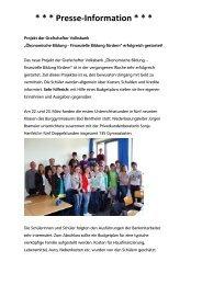 Erfolgreicher Projektstart - Grafschafter Volksbank eG