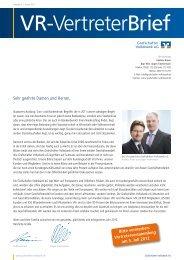 Vertreterbrief Januar 2012 - Grafschafter Volksbank eG
