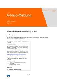 Warnmeldung E-Mail - Grafschafter Volksbank eG
