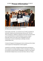 Börsencup 2012 Presseinfo - Grafschafter Volksbank eG