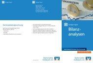 Detaillierte Bilanzanalysen - Grafschafter Volksbank eG