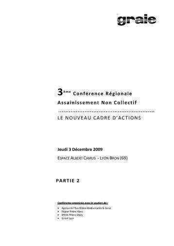 3ème Conférence Régionale Assainissement Non Collectif - Graie