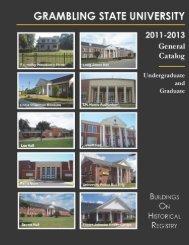2011 - 2013 Course Catalog - Grambling State University
