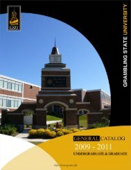 2009 - 2011 Course Catalog - Grambling State University