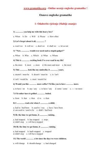 Osnove engleske gramatike