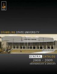 2008-2009 Course Catalog (pdf) - Grambling State University
