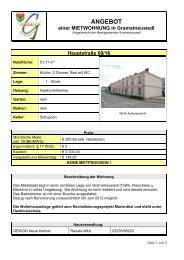 Mietwohnung Hauptstraße 60/16 - Marktgemeinde Gramatneusiedl