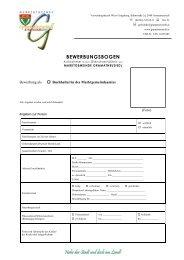 BEWERBUNGSBOGEN - Gramatneusiedl