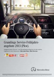 Gramlings Service-Frühjahrs- angebote 2013 (Pkw).