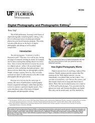 Digital Photography and Photographic Editing1 - EDIS - University of ...