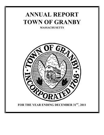 2011-Annual Town Report - Granby, MA