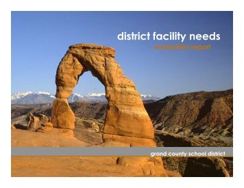 grand county school district master plan: immediate needs