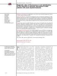 Diagnostic value of fluorescence in situ hybridization - Haematologica