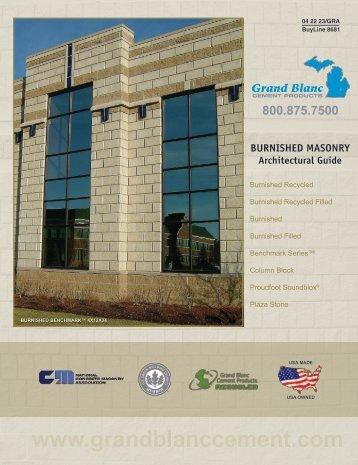 BURNISHED MASONRY - Grand Blanc Cement Products