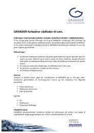 Overblik over vådfodererfaringer. pdf. - Grander