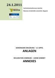 Gemeinsame Erklärung Anlagen - Grande Région